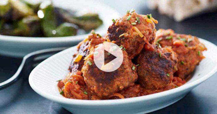 Albondigas – spanske kødboller i tomatsauce