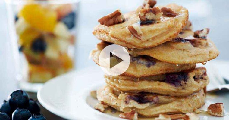 Amerikanske pandekager med fuldkorn
