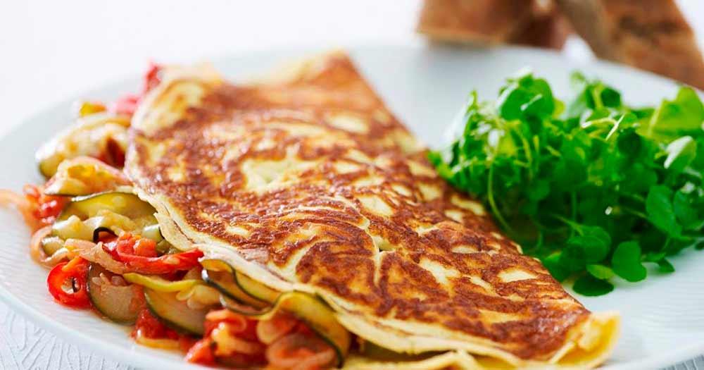 Omelet med ratatouille opskrift