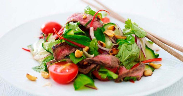 Thai beef salad – oksekødssalat