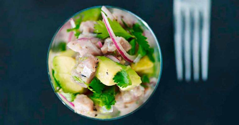Tun-ceviche med avocado
