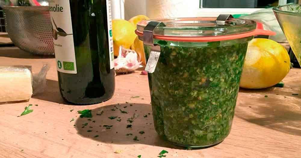 grov pesto valnødder hjemmelavet opskrift