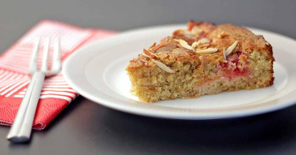 Glutenfri blommetærte med marcipan