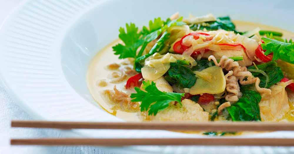 Laksa suppe kyllingesuppe opskrift