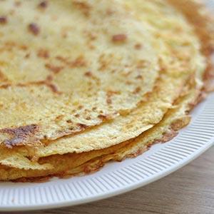 Glutenfri pandekager med skøn smag af vanilje og kardemomme.