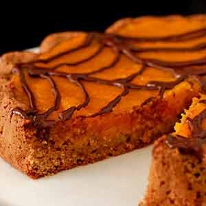 Glutenfri Halloween: Sød og lækker tærte med græskarcreme.