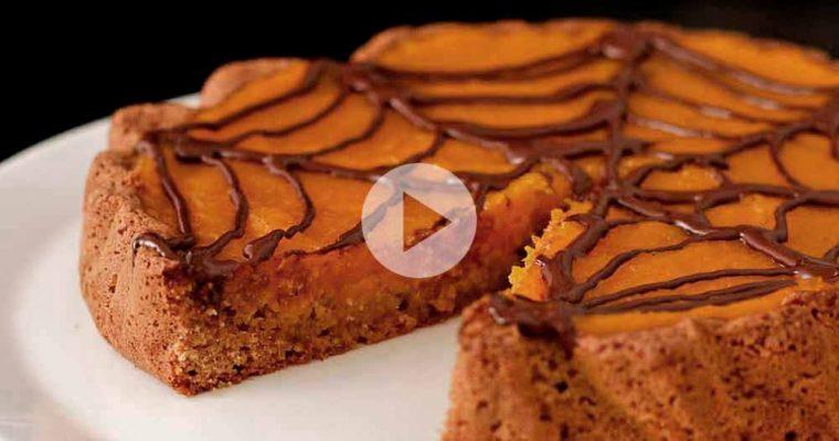 Glutenfri halloween-tærte med græskarcreme