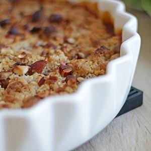 Simple og superlækker crumble – bagt uden gluten.