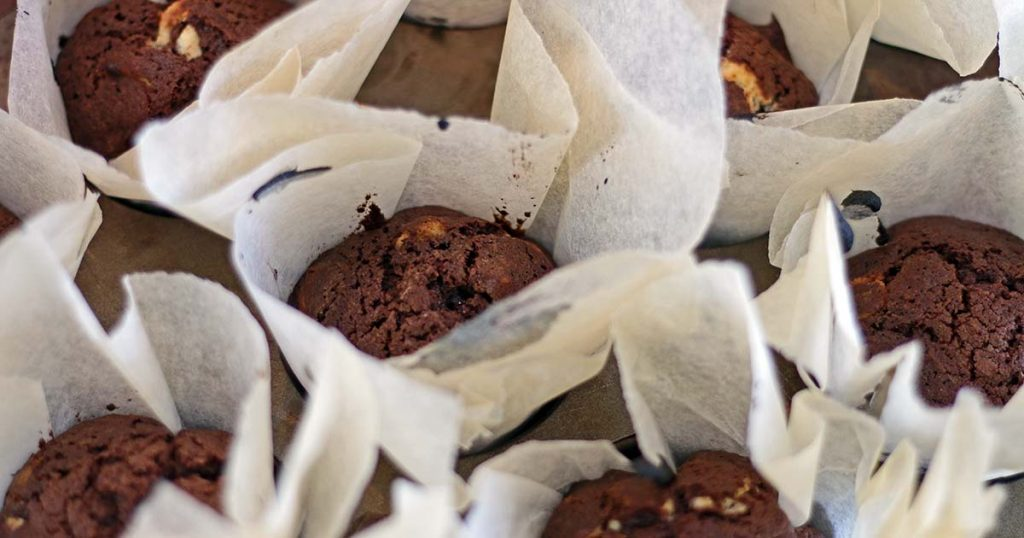 Fuldkorn chokolademuffins muffins