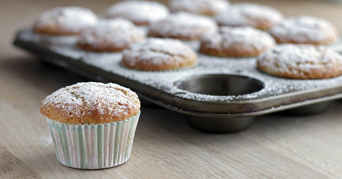 Pistacie muffins fuldkorn kage