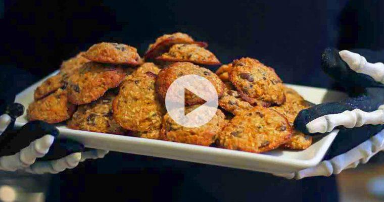 Glutenfri halloween-cookies med græskar