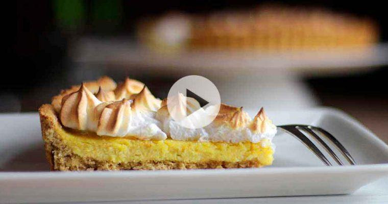 Glutenfri citrontærte med marengs