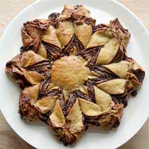 Sådan bager du den selv: Nutella stjernekage med fuldkorn.