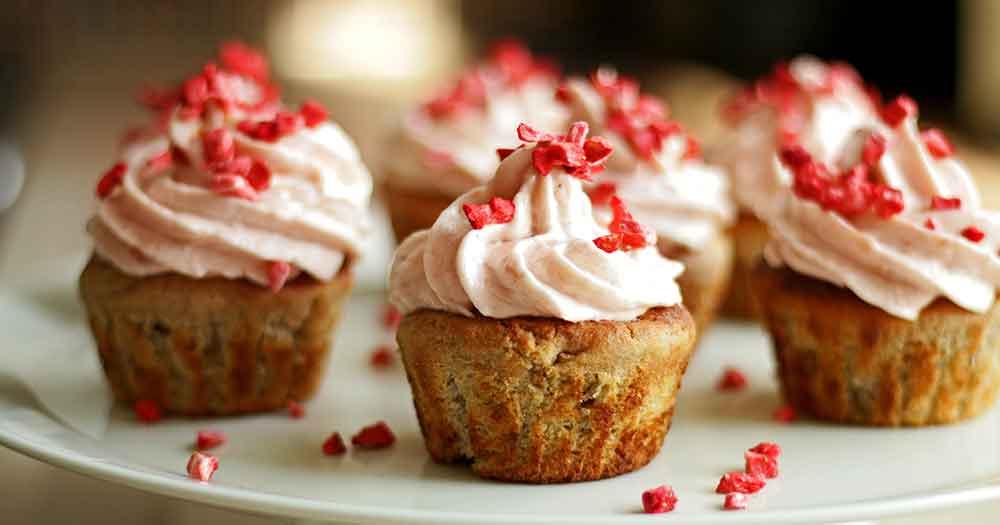 Glutenfri rabarber-cupcake