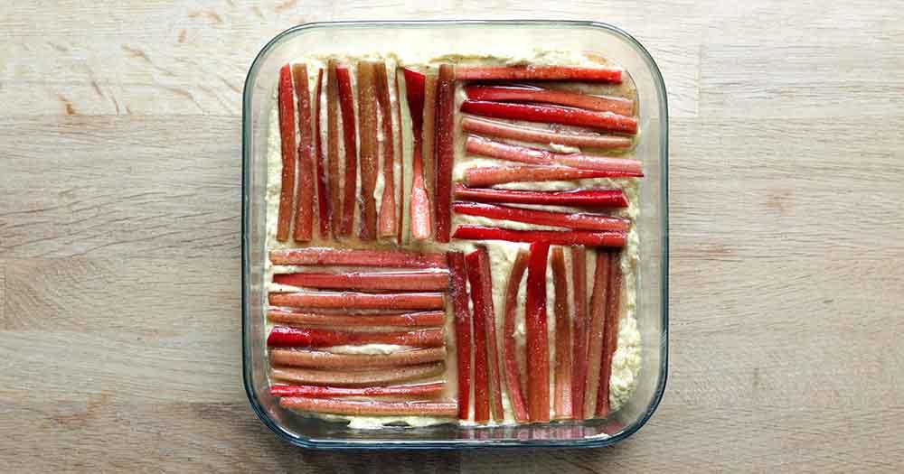 Glutenfri rabarber-mazarin rabarberkager opskrift