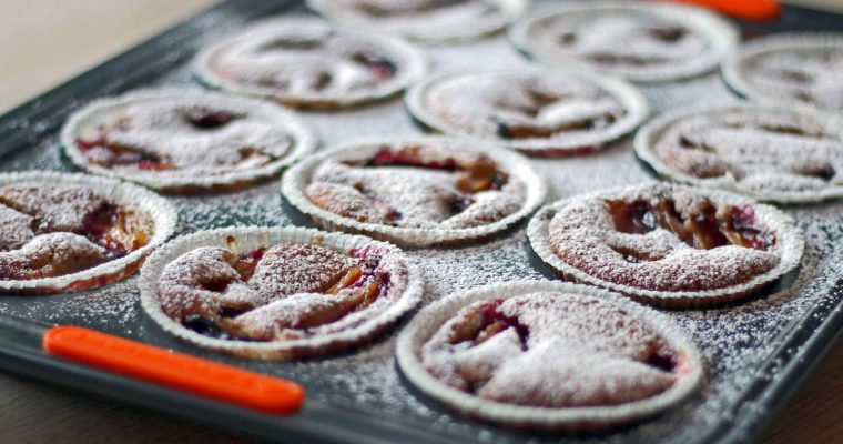 Glutenfri blommekager med fuldkorn