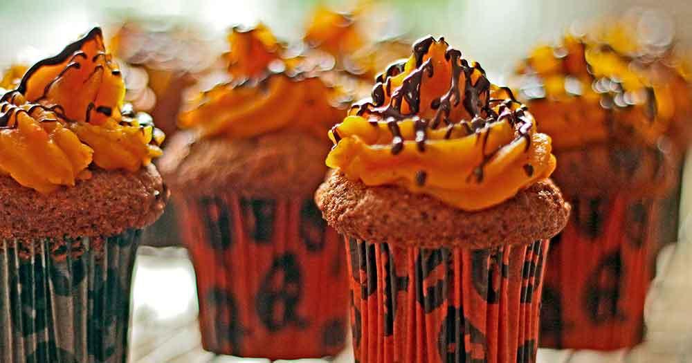 Glutenfri gulerodsmuffins muffins halloween opskrift