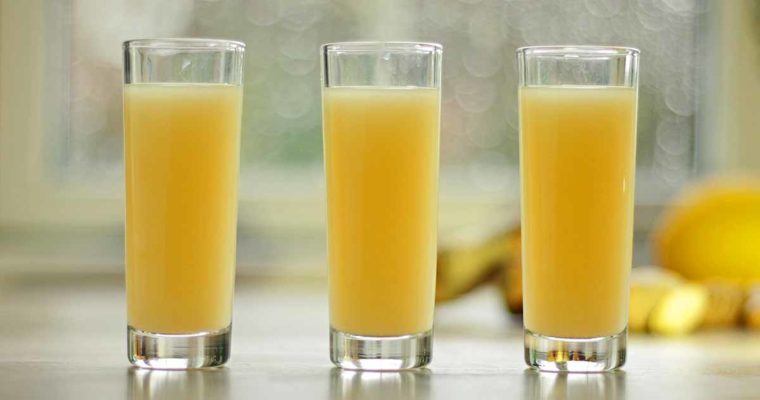 Antiinflammatorisk ingefærshot med gurkemeje og citron