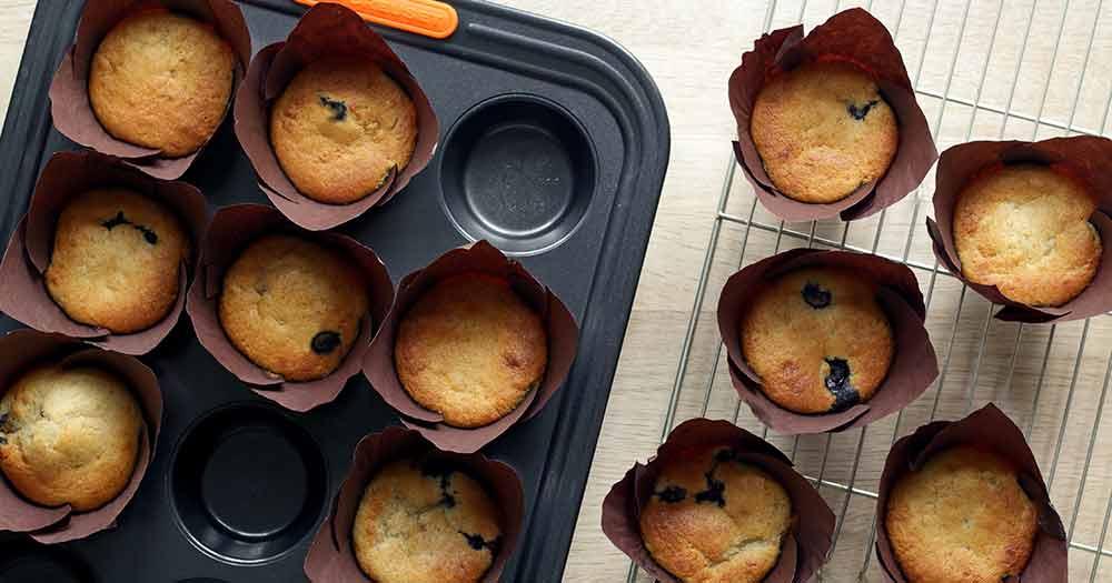 opskrift glutenfri blåbærmuffins sunde muffins