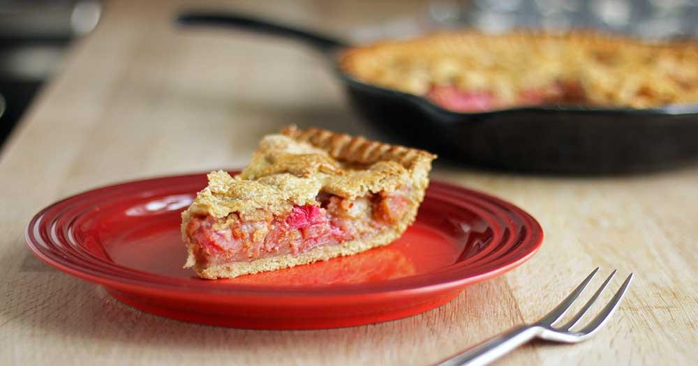 opskrift glutenfri rabarber tærte