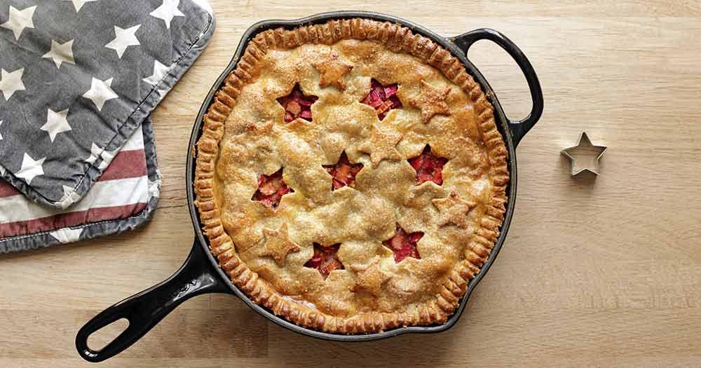 opskrift glutenfri rhubarb pie