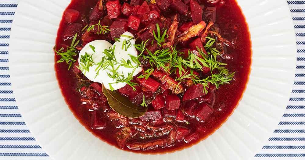 antiinflammatorisk hjemmelavet rødbedesuppe borscht opskrift velsmurt weisdorf