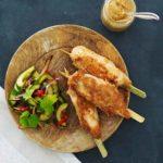 satay satayspyd kylling sauce hjemmelavet opskrift