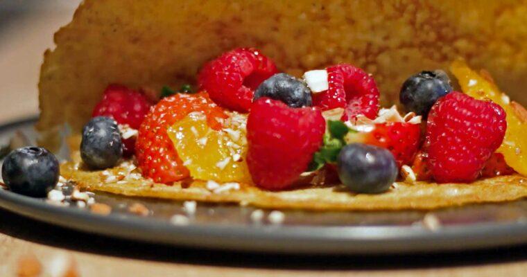 Fuldkorns-pandekager med ingefær og mandler
