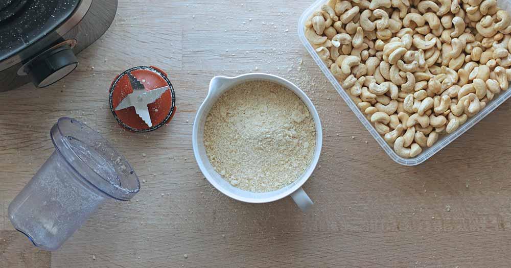 opskrift hjemmelavet cashewnøddemel