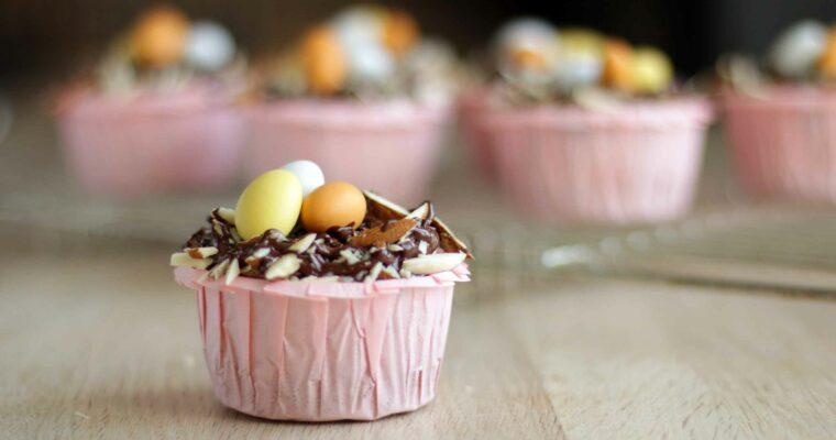 Glutenfri påskemuffins med mazarinkagesmag