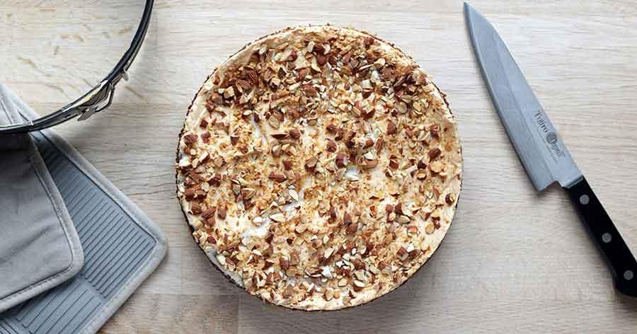 opskrift glutenfri rabarberkage med marengs